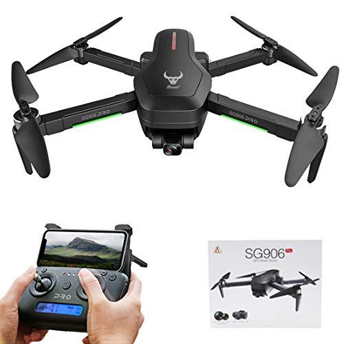 DAN DISCOUNTS RC Drohne, SG906 PRO Drohne mit Kamera 4K 5G WiFi Übertragung, Faltbarer mit Gestensteuerung, 2-Achsen-Gimbal GPS Auto Return Indoor Outdoor Quadrocopter Training