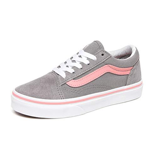 Vans – Old Skool Kids grau, Pink - Grau/Rosa - Größe: 28 EU