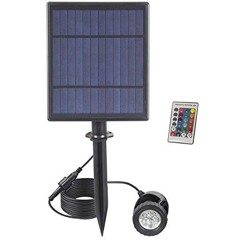 Moligin - Foco solar para exteriores LED RGB que cambia de color