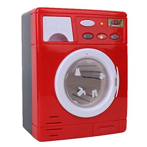 Mini Jouet de Machine à Laver, Appareil électroménager de Simulation Semblant Jouet d'appareil de Jeu de rôle pour des Enfants en Bas âge(Rouge)