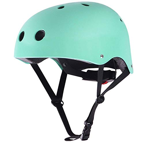 WIN.MAX Bike Helmet CPSC EN1078 Certified, Adjustable Durable for Bicycle Cycling Skateboard Scooter Multi-Sport from Toddler to Youth (Robin Egg Blue M)