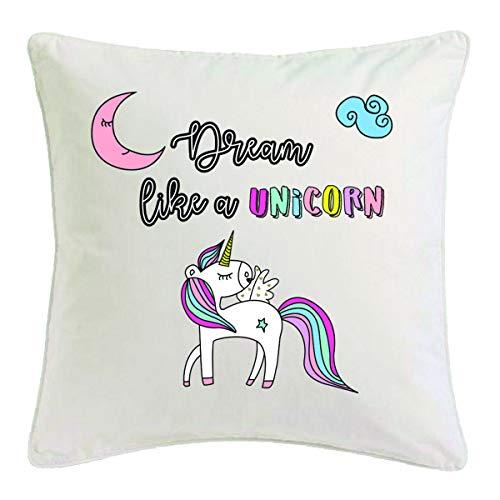 Reifen-Markt Funda de cojín de 40 x 40 cm, diseño de unicornio, criaturas míticas, caballo, cabra, emoji, Licorne, Unicornio, Mythos, cuerno medieval, de microfibra, 302890