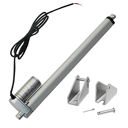 ECO-WORTHY Linear Actuator 12V 300MM Stroke Length Heavy Duty 330lbs Linearantrieb Linearmotor Verstellantrieb Toröffner Lineartechnik 12V DC Electric Motor DIY for Auto Car Lifting