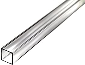 Acrylic Extruded Tube Square - Clear - 11-7/8