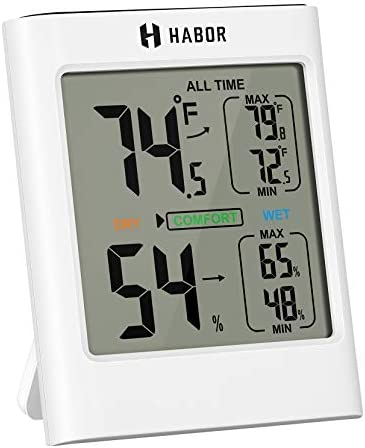 Habor Indoor Thermometer Hygrometer Humidity Gauge Room Thermometer Temperature Humidity Monitor product image