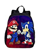 Mochila escolar Sonic 12 pulgadas 2020 dibujos animados Sonic The Hedgehog mochilas escolares 3 unids/set mochila escolar niños niñas Super Mario Mochila infantil