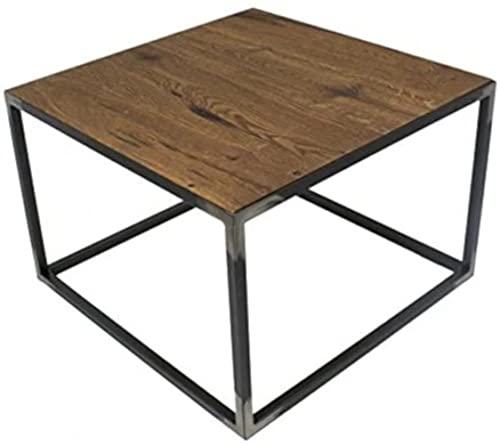 Spinder Design Table d'appoint en Bois Massif de chêne foncé 60 x 60 cm