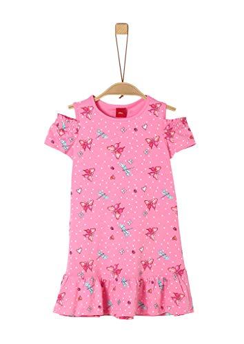 s.Oliver RED LABEL Mädchen Jerseykleid mit Frühlings-Print pink AOP 128.REG