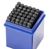WiMas 36PCS Zahlen und Buchstaben Punch Set, Schlagbuchstaben, A-Z & 1-9 Großbuchstaben Stanzwerkzeug 1/8 Zoll 3mm