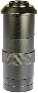 Monocular 8x-100x 43mm-150mm C-Mount Zoom Glass Lens for Industry Lab Microscope Camera