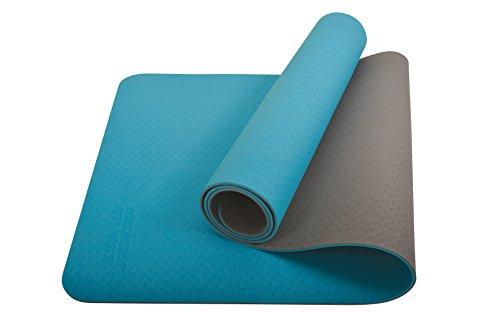 Schildkröt Fitness Yogamatte BICOLOR, PVC-freie, zweifarbige Yogamatte, verschiedene Farben wählbar, hochwertig strukturierte Oberfläche, sehr rutschfest, 180 x 61 x 0,4 cm, in Tragetasche
