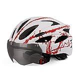 Lubudup Urban - Casco de bicicleta para adultos con visor, anillo interior iluminado ajustable, adecuado para muchas actividades al aire libre