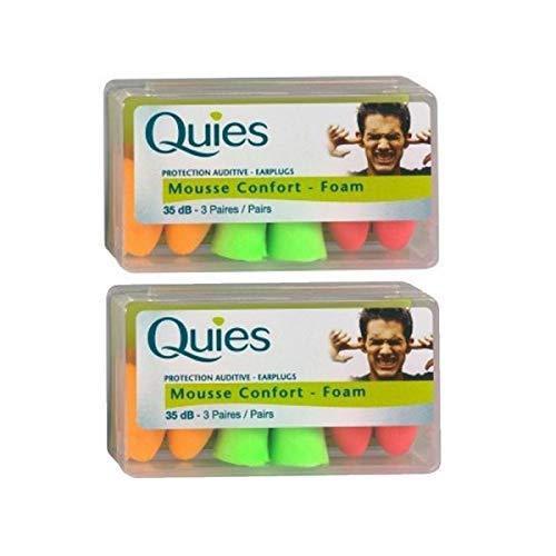 quies - protection mousse confort - 3 paires - lot de 2