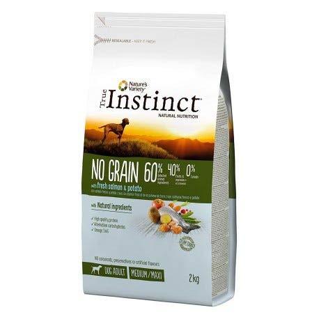 True Instinct No Grain Dog Medium/Maxi Adult Salmon 12 kg