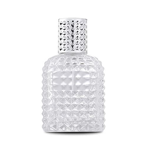 JSJJAWS Botella contenedor 30ml 50 ml de Lujo Brillante Brillante Transparente rociador de Cristal Bomba de Viaje portátil de Parfum de Parfum de Parfum de Viaje (Color : Silver, Material : Gl