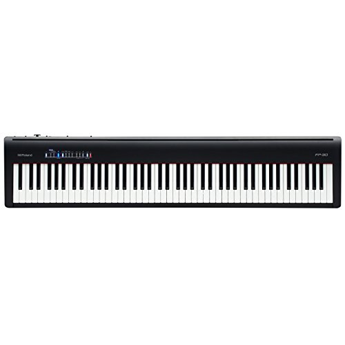 ROLAND FP-30 88 Key Digital Piano, Noir