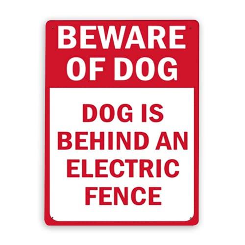 Señal de advertencia, cuidado con la señal del perro El perro está...