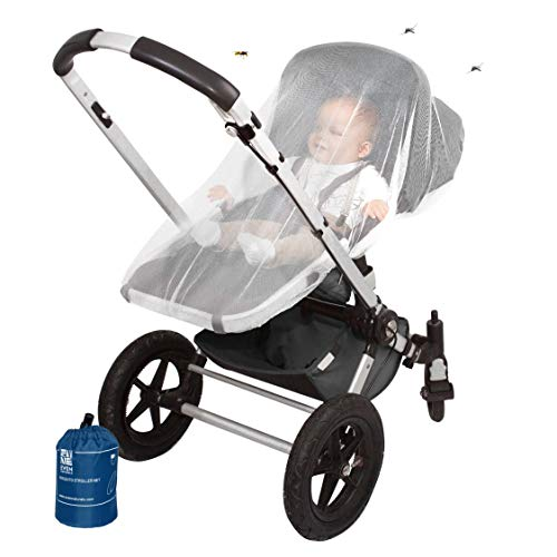 Stroller Mosquito Net for Baby - Durable, Simple Setup System - Extra Fine Holes to Protect Against Mosquitos and Wasps - no Harmful Chemicals - Perfect Fit for Stroller Net, for Car Seats & Carriers