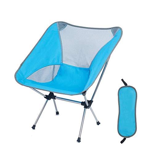 Pkfinrd Stoel opvouwbare aluminium outdoor ultralichte draagbare maan stoel strand camping vissen recreatieve tekening schets rugleuning kruk kan weerstaan 150kg