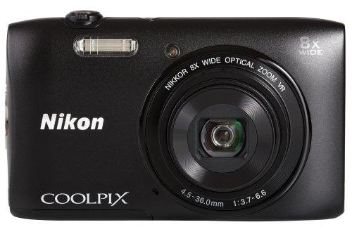 Nikon Coolpix S3600 Digitalkamera (20 Megapixel, 8-fach opt. Weitwinkel-Zoom, 6,9 cm (2,7 Zoll) TFT-LCD-Display, bildstabilisiert, Dynamic-Fine-Zoom, HD) schwarz