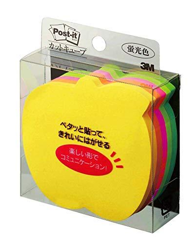 ポストイット付箋カットキューブアップル5色72×72mm225枚×1パッドCC-36