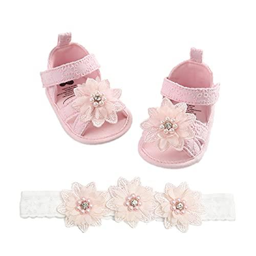 Sandalias de Bebé Niña para 0 a 18 meses, Zapatos de Verano para Bebé con Suela Suave Antideslizante, Primeros Paso Zapatos para Recién Nacido
