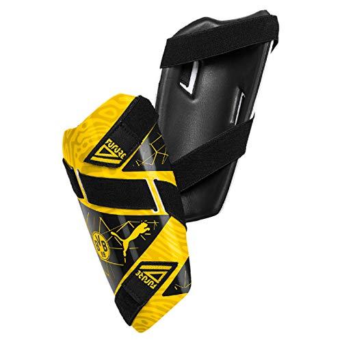 PUMA Unisex– Erwachsene BVB Future 5 Guard schienbeinschoner, Cyber Yellow Black, S