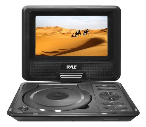 Portable, Pyle Home PDH9 9-Inch Portable TFT/LCD Monitor with Built-In DVD Player MP3/MP4/USB SD Card Slot Consumer Electronic Gadget Shop