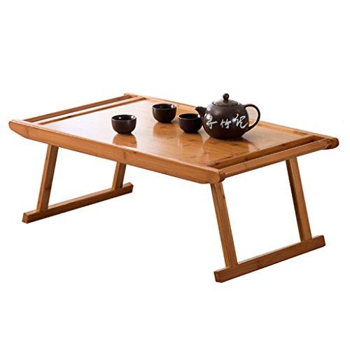 Table de thé Table Simple en Bambou Boire Une Table à thé Table paresseuse de eco-lit/Table de thé de Pliage de Mode Petite Table d'ordinateur Portable Pliable et Portable (Size : 76x43x29cm)