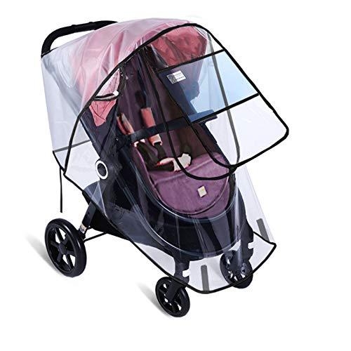 XBSJB Escudo Meteorológico De Viaje Cubierta De Lluvia Transparente De Protección Duradera Material Seguro De EVA Fácil De Instalar para Jogger Stroller Buggy Car,A
