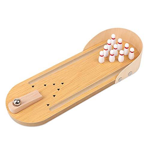 LYY Spaß Interaktiv Brettspiel Bowling Hölzerner Kinderkatapult auf dem Tisch Elternkind Home Fun Pädagogische Spielzeug Die Beste Wahl für Kinder