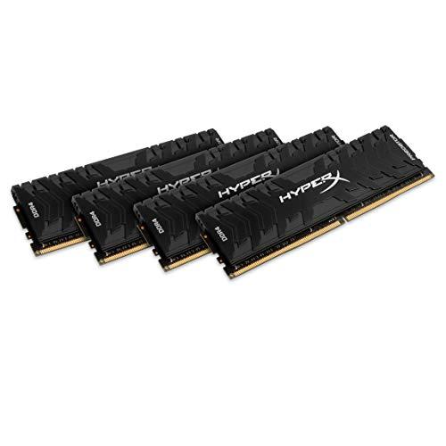 HyperX Predator HX433C16PB3K4/64 DDR4 64 GB Kit (4 x 16 GB) 3333 MHz CL16 DIMM, Black