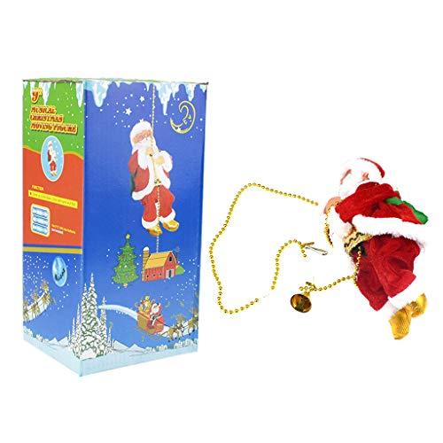 Muñeca eléctrica de Papá Noel para escalada de cuerda de juguete para fiesta de Navidad, decoración de pared del hogar, decoración de Navidad, árbol de Navidad, decoración de árbol de Navidad