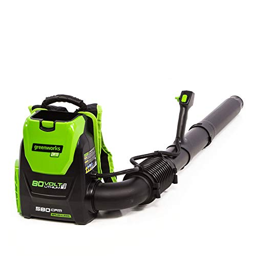 Greenworks 80V 145MPH - 580CFM Cordless Backpack Leaf Blower, Battery and Charger Not Included...