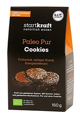 STARTKRAFT ☀ Paleo Cookies 75g - Naschen OHNE Zucker, Milch oder Emulgatoren! ✔vegan ✔glutenfrei - Der erste Keks aus gekeimten Saaten und Superfoods - von Ernährungswissenschaftlern entwickelt.