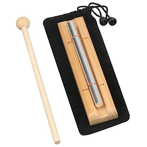 MEETANG Chime Gong Glockenspiel, Klangstab Schlagzeug Percussion Instrumente mit Einzeln Ton, enthält Aufbewahrungstasche & Holzschlägel, Klanghölzer für Yoga, Meditation, Musikalische Früherziehung