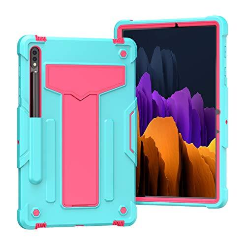 Mangas de la bolsa de la caja de la PC de la table Caso para Galaxy TAB S7 11 2020, cubierta de protección contra caídas a prueba de golpes resistentes con funda de cuerpo completo híbrido de tres cap