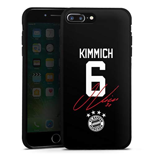 DeinDesign Silikon Hülle kompatibel mit Apple iPhone 7 Plus Case schwarz Handyhülle FC Bayern München FCB Kimmich