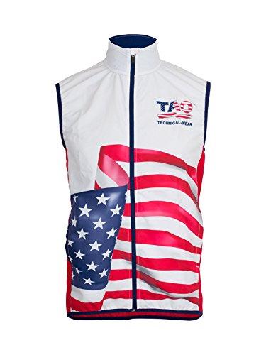 TAO Sportswear Veste de Course pour États-Unis Blanc Patrouille de Ski XL