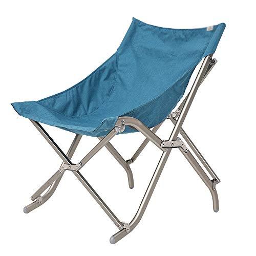 HLZY Portátiles de Ocio al Aire Libre Silla Plegable Silla de la Pesca Ultraligero Banco Silla Viajes Playa sin Artefacto Asiento (Color : Blue)