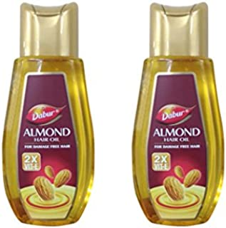 Dabur Almond Hair Oil For Damage Free Hair - 100ml (Pack of 2)