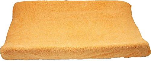 Ti TIN Copri Fasciatoio Universale con Tessuto Elastico Adattabile | Coprifasciatoio 100% Microfibra Morbida e Assorbente, 80x50 cm, Colore Arancione
