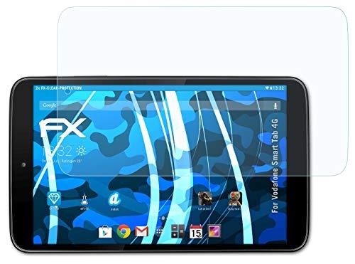 atFolix Schutzfolie kompatibel mit Vodafone Smart Tab 4G Folie, ultraklare FX Bildschirmschutzfolie (2X)
