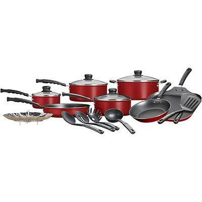 Nonstick Pots & Pans 18 Piece Cookware Set Kitchen Kitchenware Cooking NEW