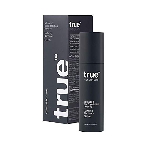 True Revitalisierende Anti Aging Anti Falten Effekt Creme für Men Herren Männer - Tagescreme Gesichtscreme Feuchtigkeitscreme Natürliche & Organische - UV Schutz Mit Aloe,...