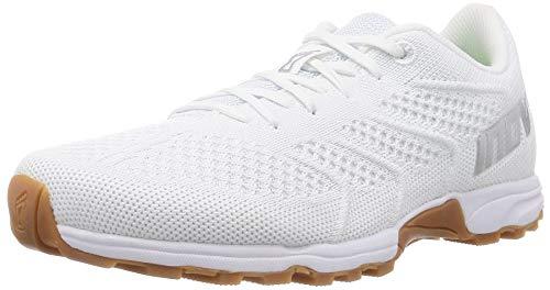 Inov-8 Women's Flite 245 - Cross-Trainer & Fitness Shoes– Men's HIIT & Running Shoes - White/Gum - 8.5