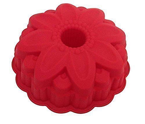 GMMH Original Moldes de Silicona Flores Molde para Hornear Forma Fruta Molde - Rojo Oscuro