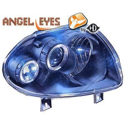 4413580, 1 paar Angel Eyes koplampen, zwart, voor Clio 2 van 1998 tot 2001