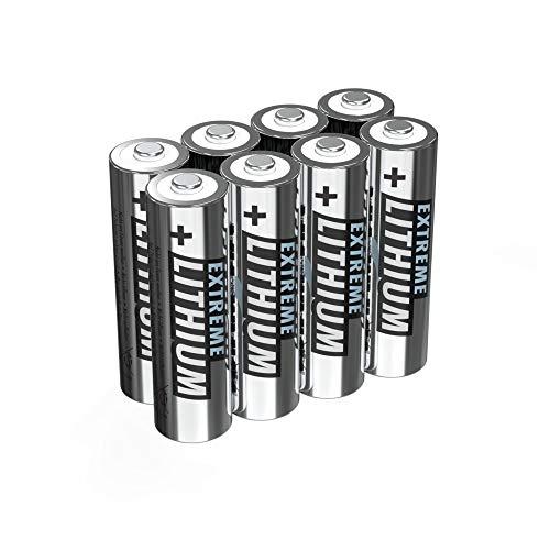 ANSMANN Extreme Lithium Batterie AA Mignon 8er Pack - 1,5V, LR6 - hohe Kapazität, extrem leich, 700% mehr Power