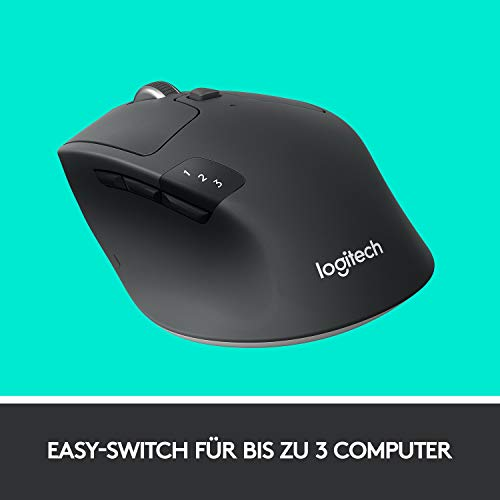 Logitech M720 Triathlon Kabellose Maus, Bluetooth & 2.4 GHz Verbindung via Unifying USB-Empfänger, 1000 DPI Sensor, 24-Monate Akkulaufzeit, Multi-Device, 8 Tasten, PC/Mac/iPadOS - 7